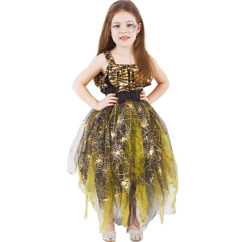 dabf83b9d Dětský kostým čarodějnice - Zlaté šaty