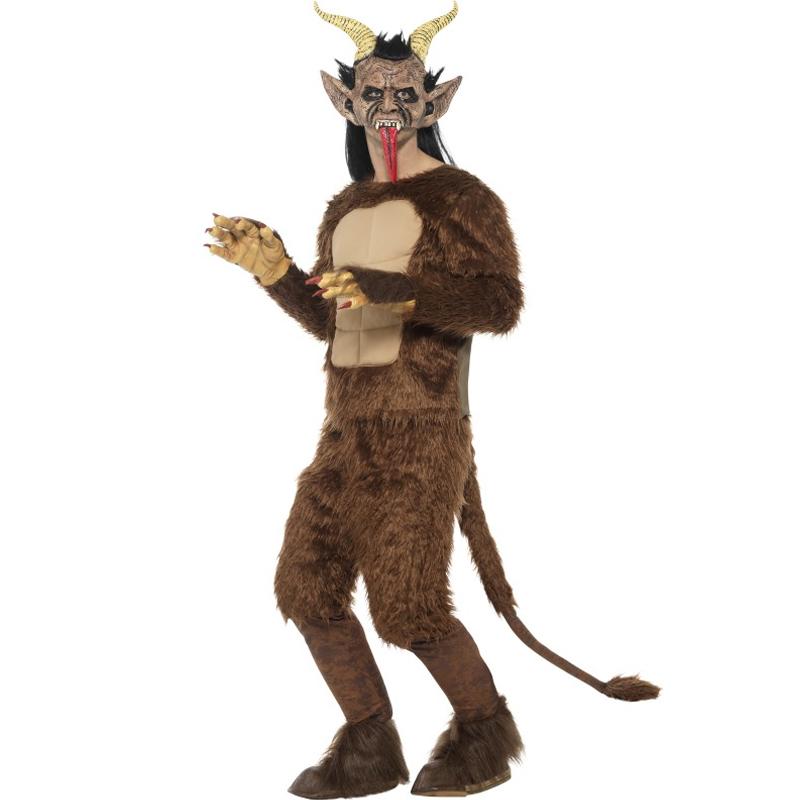 Chlupatý kostým s maskou - Krampus čert 622190cd4ee