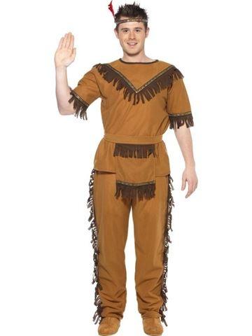 Karnevalový kostým pro dospělé - Indián hnědý 793229a7e7
