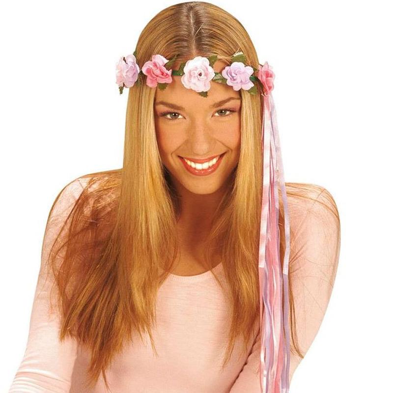 c8d656d46c2 Květinová čelenka hippies - fialová