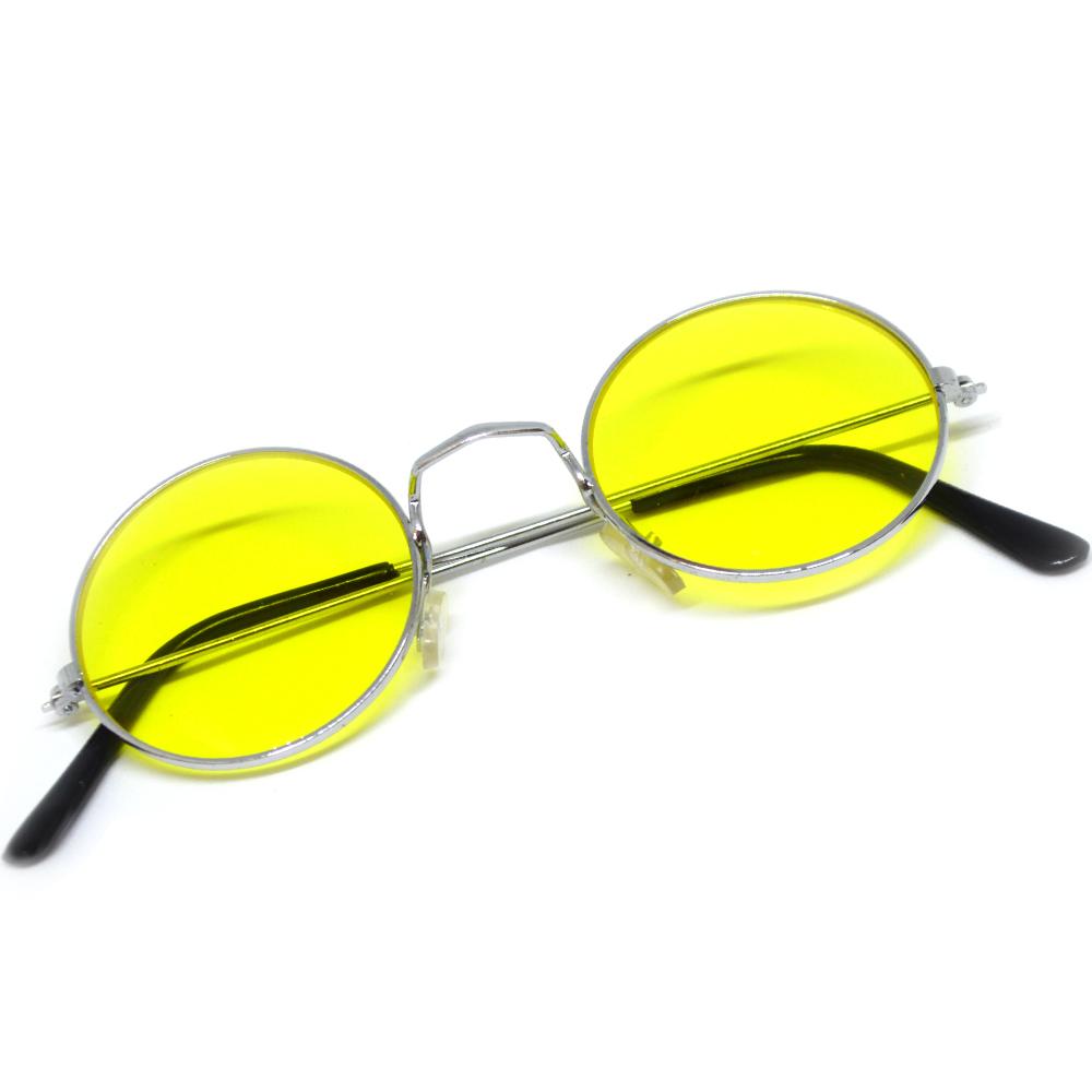 cbb9080ee8d Hippies party brýle - lenonky žlutá skla