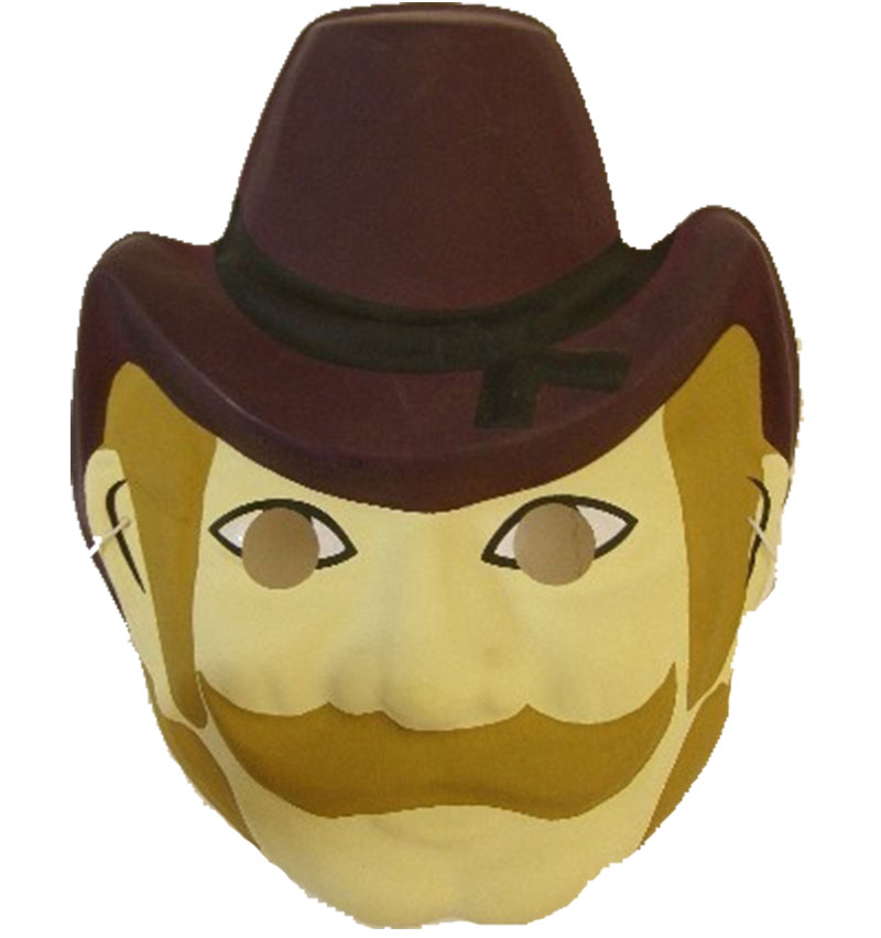 Dětská plastová maska - Kovboj