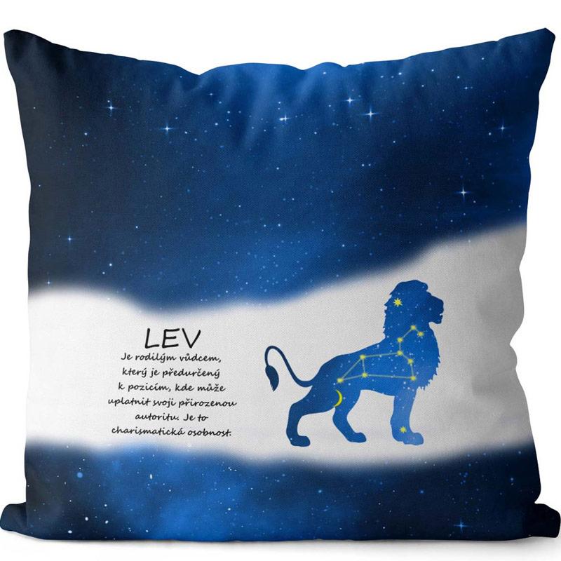 Polštář pro znamení Lev - modrý