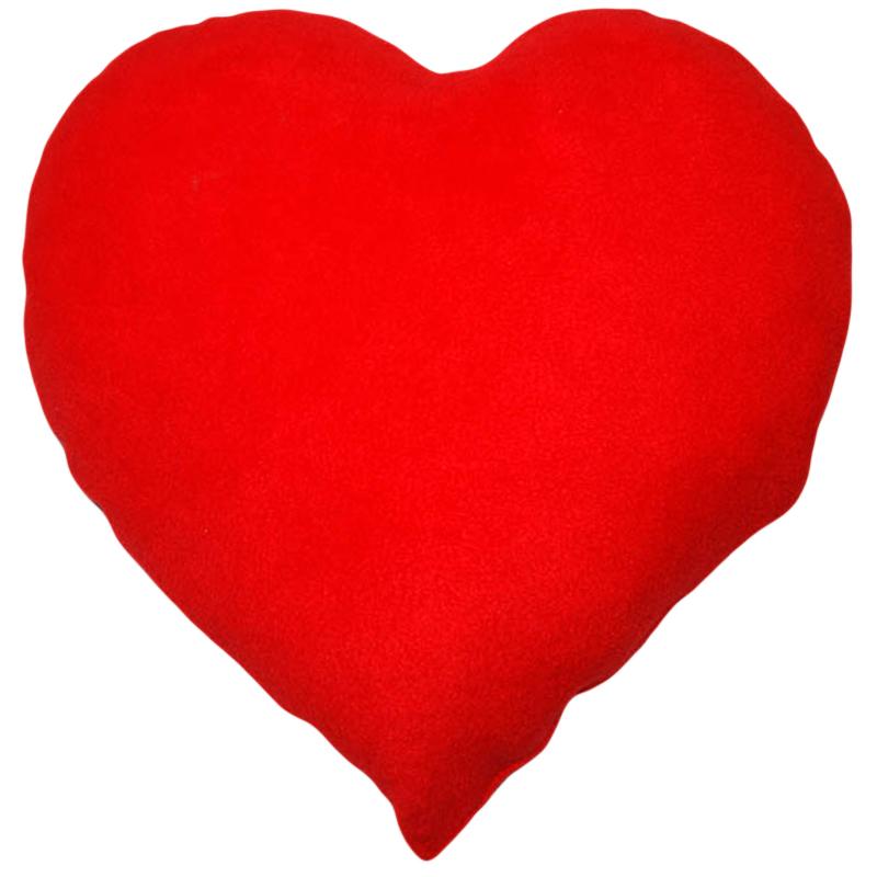 Velký červený polštář ve tvaru srdce