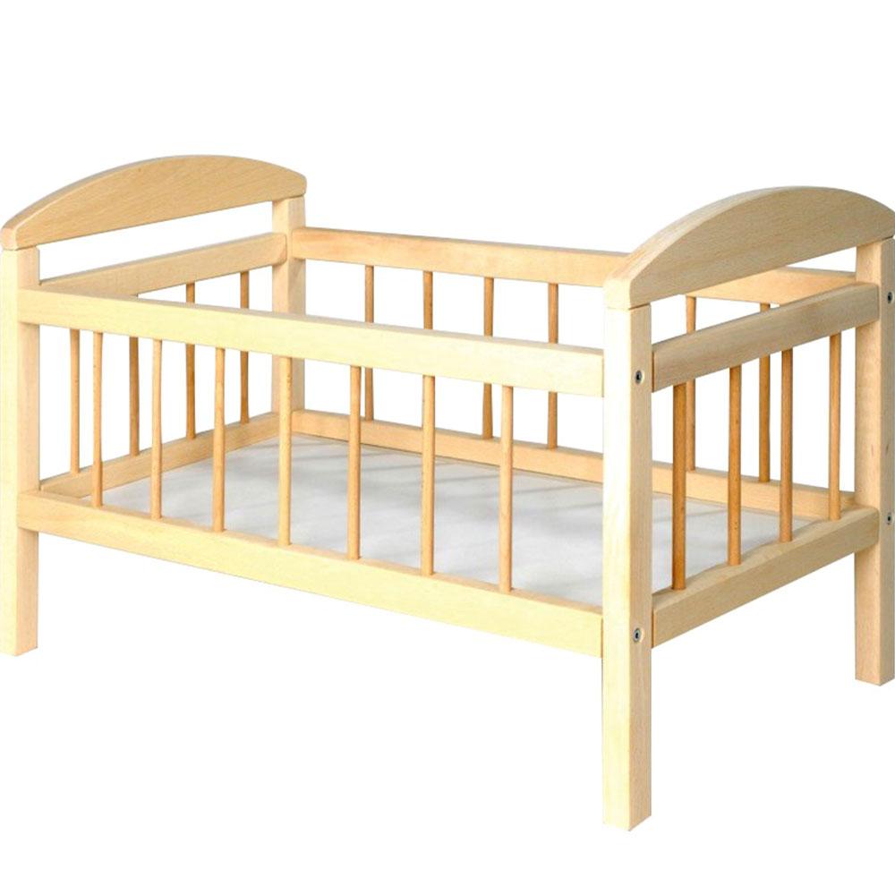 Dřevěná postýlka pro panenky