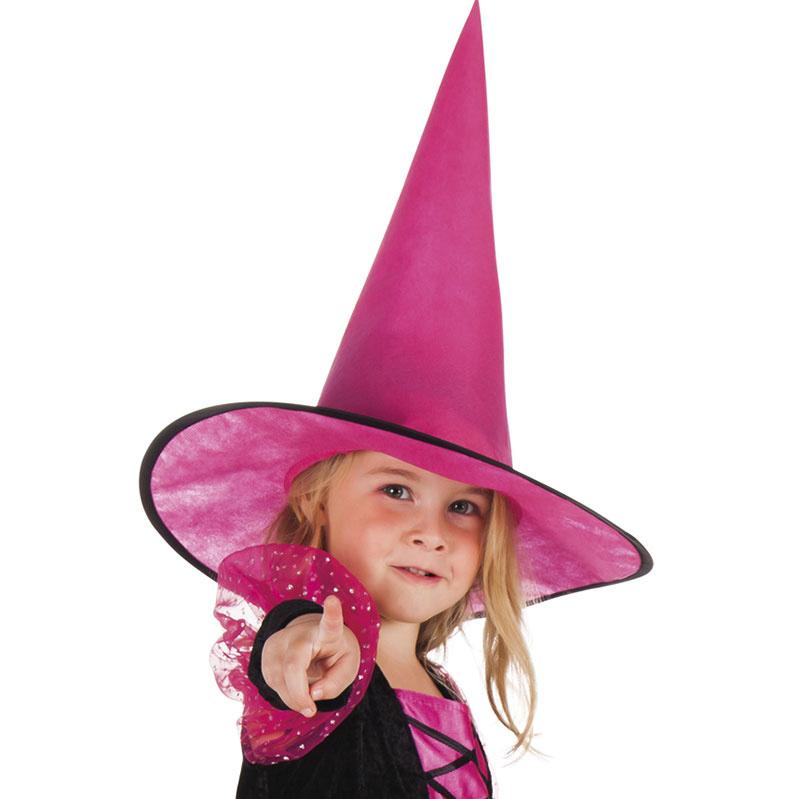f0118e1409f Dětský čarodějnický klobouk - růžový