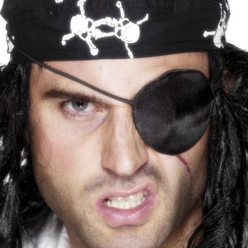Pirátská páska přes oko - saténová