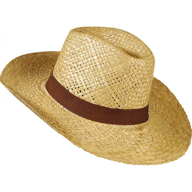Slaměný klobouk Safari - hnědá stuha Widmann