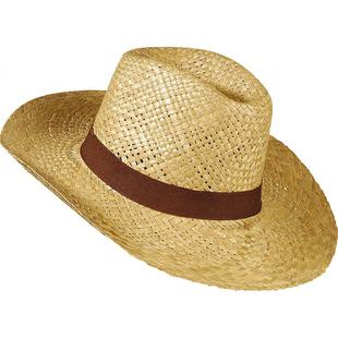 Slaměný klobouk Safari - hnědá stuha f9bb0b9275