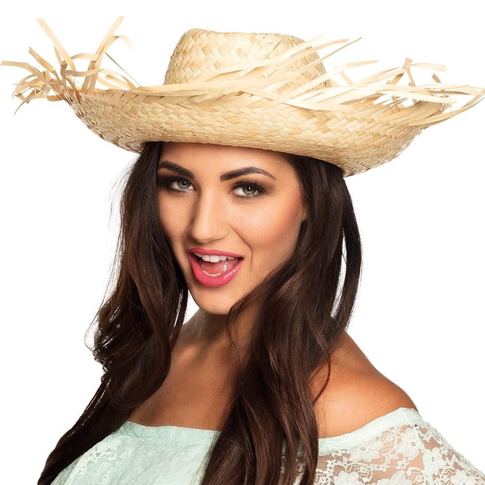 Slaměný klobouk - Slamák letní přírodní vzhled R-Kontakt