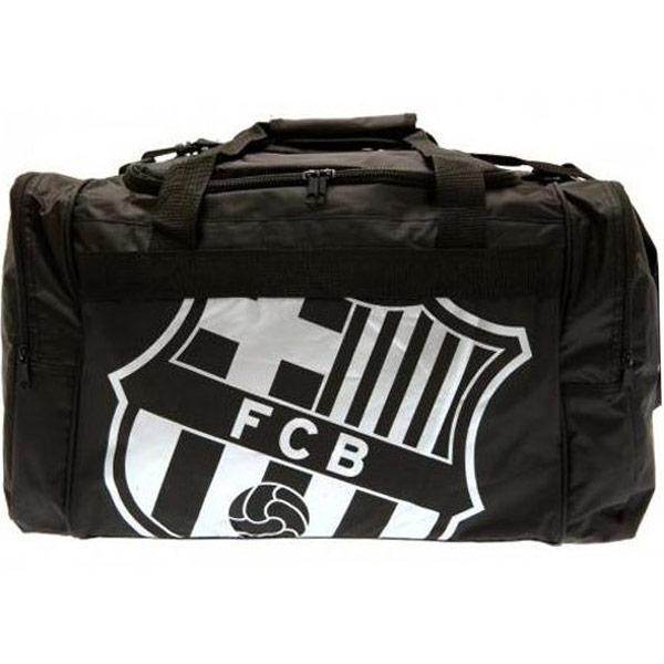 Sportovní taška FC Barcelona - černá se znakem
