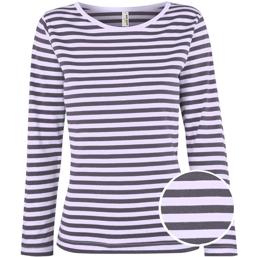 Dámské pruhované tričko Marry s dlouhými rukávy ca345d17d5