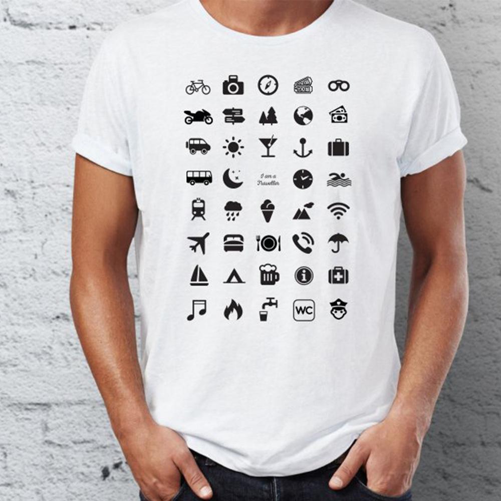 7bdcfee819e Tričko pro cestovatele s ikonami