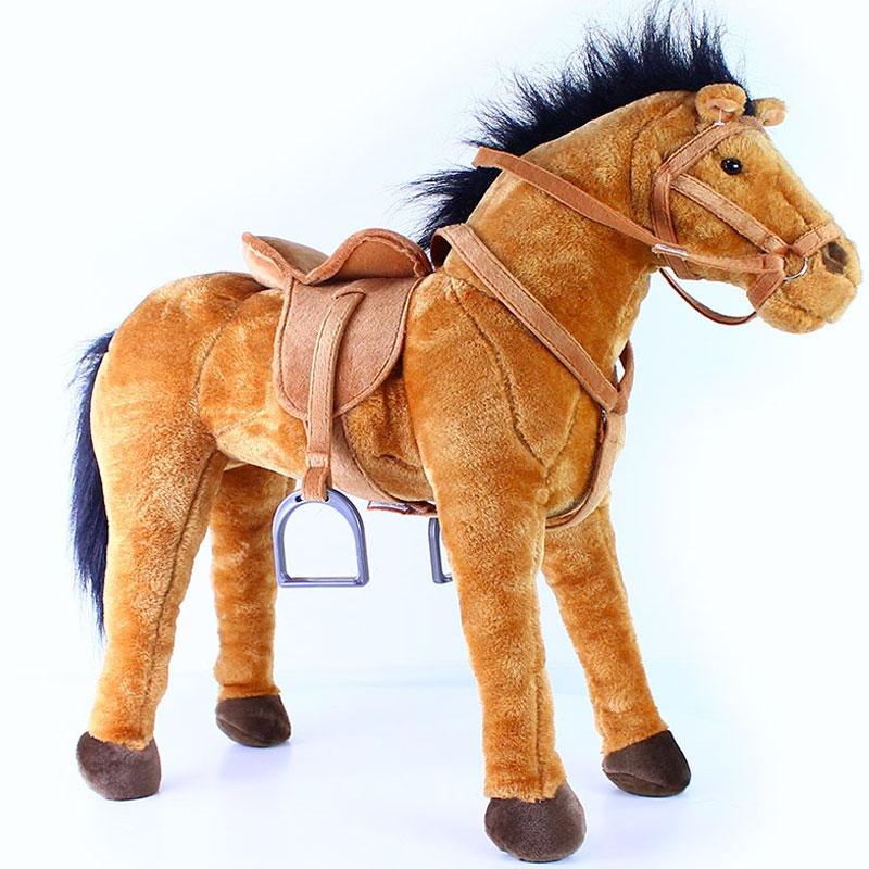 Velký plyšový kůň 70 cm - možno sedět Rappa
